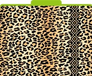 Leopard File Folders