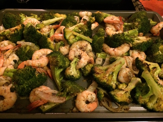 Roasted Shrimp and Garlic